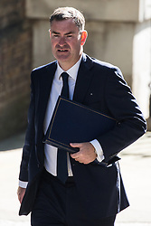 London, UK. 23 July, 2019. David Gauke MP, Lord Chancellor and Secretary of State for Justice, arrives at 10 Downing Street for the final Cabinet meeting of Theresa May's Premiership. The name of the new Conservative Party Leader, and so the new Prime Minister, will be announced at a special event following the meeting.