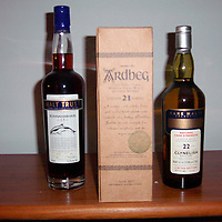 Scotland. Three collectors whiskys.