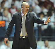 """Mississippi head coach Andy Kennedy watches action against Kentucky at the C.M. """"Tad"""" Smith Coliseum on Tuesday, January 29, 2013.  (AP Photo/Oxford Eagle, Bruce Newman).."""