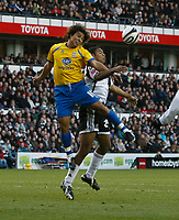 Photo: Steve Bond/Richard Lane Photography. Derby County v Crystal Palace. Coca Cola Championship. 06/12/2008. Nick Carle (L) gets to the ball above Miles Addison (R)