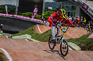 #144 (FISKEBEKK Silje) NOR at the 2016 UCI BMX World Championships in Medellin, Colombia.