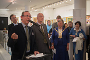 A.N. WILSON; HONORY ALDERMAN FRANCES ELOIS; A, 20/21 British Art Fair. Celebrating its 25 Anniversary. The Royal College of Art . Kensington Gore. London. 12 September 2012.