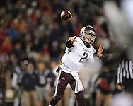 Texas A&M quarterback Johnny Manziel (2) passes against Ole Miss in Oxford, Miss. on Saturday, October 6, 2012. Texas A&M won 30-27...