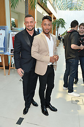 Left to right, ROBIN WINDSOR and MARCUS COLLINS at the Ben Cohen Stand Up Foundation Gala evening at The Hurlingham Club, Ranelagh Gardens, London on 21st May 2015.