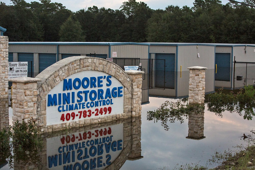 Aug. 31, 2017, Storage facility in Vidor Texas. Hurricane Harvey was downgraded to a tropical storm when it flooded Vidor, Texas.