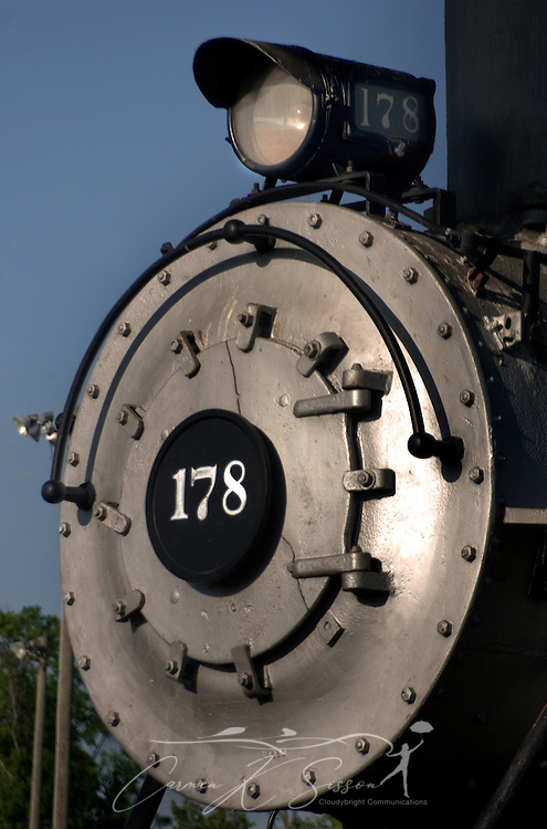 The Columbus and Greenville Railway steam locomotive #178 sits in Propst Park in Columbus, Miss. April 21, 2010. The train was retired in 1951. (Photo by Carmen K. Sisson/Cloudybright)