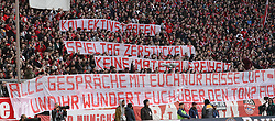 08.03.2020, Allianz Arena, Muenchen, GER, 1. FBL, FC Bayern Muenchen vs FC Augsburg, 25. Runde, im Bild Botschaft aus dem Block der Ultras - Transparent // during the German Bundesliga 25th round match between FC Bayern Muenchen and FC Augsburg at the Allianz Arena in Muenchen, Germany on 2020/03/08. EXPA Pictures © 2020, PhotoCredit: EXPA/ SM<br /> <br /> *****ATTENTION - OUT of GER*****