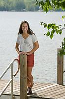 Claudia Cantin senior portrait session at Lake Winnisquam.  ©2018 Karen Bobotas Photographer