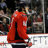 26 December 2007:  Washington Capitals left wing Alexander Ovechkin (8) skates in the first period  against the Tampa Bay Lightning at the Verizon Center in Washington, D.C.  The Capitals defeated the Lightning 3-2.