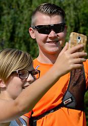 06-08-2015 NED: 60Minutes2Rio, Arnhem<br /> Fotoshoot voor de app 60Minutes2Rio dat half augustus uitkomt met Sjef van den Berg