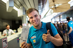Jan Oresnik of Slovenian deaf team before departure to 23rd Summer Deaflympics in Samsun, Turkey, on July 14, 2017 at Airport Joze Pucnik, Brnik, Slovenia. Photo by Vid Ponikvar / Sportida