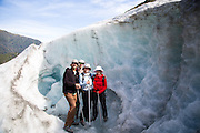 Posers on Fox Glacier.