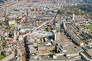 Nederland, Noord-Brabant, Roosendaal, 01-04-2016; overzicht binnenstad Roosendaal met Markt en Nieuwe Markt (midden rechts).<br /> Cityscape Bergen op Zoom.<br /> <br /> luchtfoto (toeslag op standard tarieven);<br /> aerial photo (additional fee required);<br /> copyright foto/photo Siebe Swart