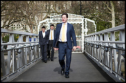 Deputy Prime Minister Nick Clegg walks toward the Tattershall Castle for an interview with LBC, London, UK, May 1st, 2013. Photo by: Daniel Leal-Olivas / i-Images