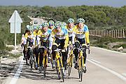 SPAIN / SPANJE / MALLORCA / CYCLING / WIELRENNEN / CYCLISME / CYCLOCROSS / VELDRIJDEN / TELENET FIDEA CYCLING TEAM / WINTERSTAGE / TRAINING CAMP / (L-R) JENS VANDEKINDEREN / THIJS AL / BART WELLENS / QUINTEN HERMANS / BEN BOETS / NICOLAS CLEPPE /