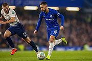 Chelsea midfielder Eden Hazard (10) on the ball during the EFL Cup semi final second leg match between Chelsea and Tottenham Hotspur at Stamford Bridge, London, England on 24 January 2019.