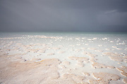 A storm rises over Lac Assal, the lowest place in Africa