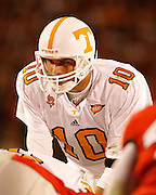Tennessee quarterback Erik Ainge during the game between the Georgia Bulldogs and the Tennessee Volunteers at Sanford Stadium in Athens, GA on October 7, 2006.<br />