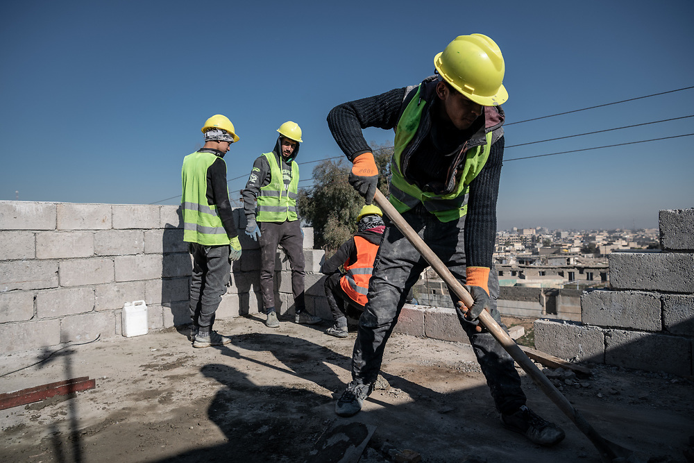 4 February 2019 – Mosul – Iraq – Work is underway to rehabilitate a family home in the Wadi Hajar neighbourhood of West Mosul. <br /> <br /> UNDP's Funding Facility for Stabilization (FFS) is supporting the rehabilitation of ten thousand homes across West Mosul, helping displaced families return home. <br /> <br /> © UNDP Iraq / Claire Thomas