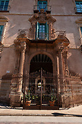 Episcopal Palace facade (XVIII century) Rococo style in Glorieta de España, Murcia. Spain