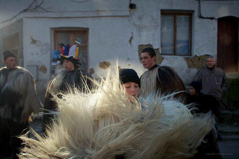 Jan. 2, 2011 -- Kukeri, babugeri, survakari -- Balkan traditions.