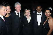 l to r: Governor David Patterson, New York State First Lady Michelle Paige Patterson, Former President Bill Clinton, U.S.Secretary of State Hillary Clinton, Guest and Elinor Tatum at The Amsterdam News 100th Anniversary Gala held at the David H. Koch Theater at Lincoln Center on November 30, 2009 in New York City. © Terrance Jennings / Retna Ltd.