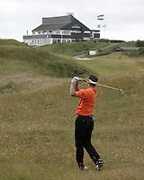 NOORDWIJK - Niels Kraaij. Stern Open (Nationaal Open) op de Noordwijkse GC met clubhuis. . Foto Koen Suyk