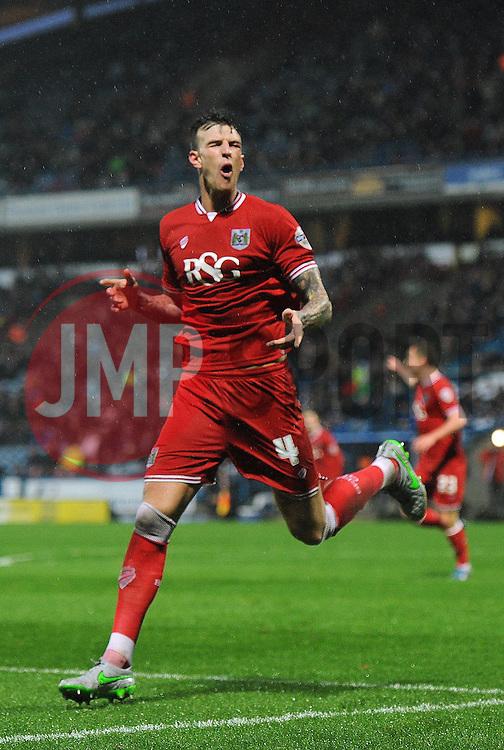 Aden Flint of Bristol City celebrates his goal - Mandatory byline: Dougie Allward/JMP - 12/12/2015 - Football - St John Smith's Stadium - Huddersfield, England - Huddersfield Town v Bristol City - Sky Bet Championship