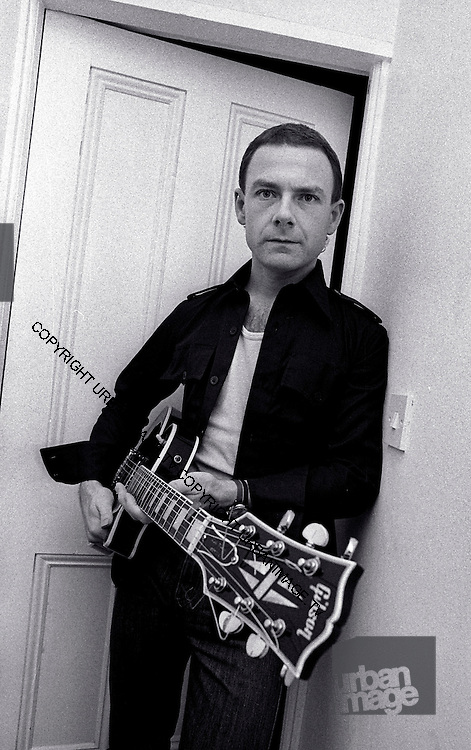 Robert Fripp at home in London 1979