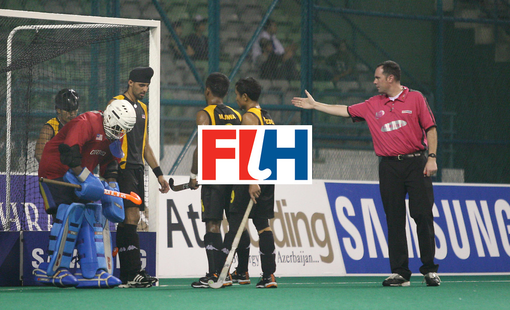 Kuala Lumpur : Malaysians preparing to defend a penalty corner against Australia in the Samsung Hockey Men Champions Trophy at the National Stadium, Bukit Jalil, Kaula lumpur, Malaysia on 29 Nov 2007. <br /> Photo:GNN/Vino John