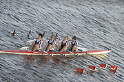 London, Great Britain,  Marlow BC, Women's vet C4-Start at  the 2009 Veterens Fours of the River Race, raced over the Championship Course, Mortlake to Putney, on the River Thames.   Sunday, 15/11/2008. [Mandatory Credit: Peter Spurrier /Intersport Images]