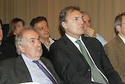 17/03/2008<br /> Conferenza stampa di presentazione Progetto Gimme 5<br /> Nella foto: dino meneghin fausto maifredi<br /> Foto Ciamillo
