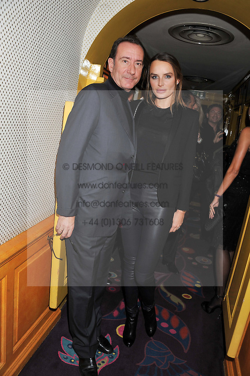 ROBERT HANSON and MASHA MARKOVA at the Johnnie Walker Blue Label and David Gandy partnership launch party held at Annabel's, 44 Berkeley Square, London on 5th February 2013.