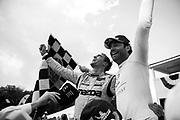 August 2-4 2019: IMSA WeatherTech Series. Mazda celebrates winning the Road America Sportscar Showcase. #55 Mazda Team Joest Mazda DPi, DPi: Jonathan Bomarito, Harry Tincknell