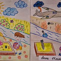 Il mondo con gli occhi degli innocenti, disegni dei bambini del Donbass