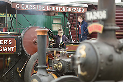© Licensed to London News Pictures. 29/05/17  ALTRINCHAM ,GREATER MANCHESTER,UK.  <br /> <br /> Ashley Hall Traction Engine Rally today (Monday 29th May 2017). The rally , hosted at Ashley Hall for the third year running , took place over the bank holiday weekend from Saturday 27th May until Sunday 29th May.Hugo Macdonald Smith, nine. <br /> <br />   <br /> Photo credit: CHRIS BULL/LNP