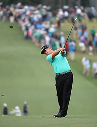 April 7, 2018 - Augusta, GA, USA - Charley Hoffman hits from the 1st fairway during the third round of the Masters Tournament on Saturday, April 7, 2018, at Augusta National Golf Club in Augusta, Ga. (Credit Image: © Jason Getz/TNS via ZUMA Wire)