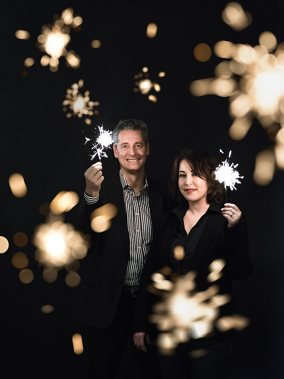 Alessandro Medici (g) et Laura Blagho (d), Power-Blox. Lutry, 21 février 2017.