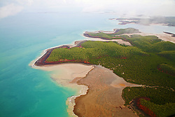Aerial view of Kingfisher Island in the Wet Season