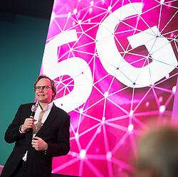 "26.03.2019, T-Center, Wien, AUT, T-Mobile, Pressekonferenz zum Thema""5G-Pionier Österreich - T-Mobile startet 5G-Netz"", im Bild T-Mobile Vorstandsvorsitzender Andreas Bierwirth // T-Mobile CEO Andreas Bierwirth during an media briefing of the Austrian telecommunication company ""T-Mobile"" which presents the start of the 5th generation of cellular mobile communications ""5G"" in Austria in Vienna, Austria on 2019/03/26, EXPA Pictures © 2019, PhotoCredit: EXPA/ Michael Gruber"
