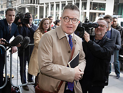 © Licensed to London News Pictures. 30/04/2019. London, UK. Labour Party Deputy Leader Tom Watson arrives at Labour Party headquarters for National Executive Meeting at which Labour's position on a second EU vote will be decided. Photo credit: Peter Macdiarmid/LNP