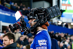 A camera man wears a camera on his head - Mandatory by-line: Robbie Stephenson/JMP - 10/12/2018 - FOOTBALL - Goodison Park - Liverpool, England - Everton v Watford - Premier League