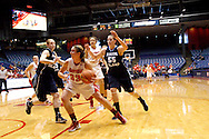 UD sophomore Cassie Sant (33) as the Rhode Island Rams play the University of Dayton Flyers at UD Arena in Dayton, Saturday, January 7, 2012.
