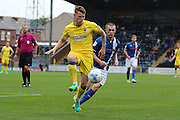 AFC Wimbledon midfielder Jake Reeves (8) controls the ball during the EFL Sky Bet League 1 match between Rochdale and AFC Wimbledon at Spotland, Rochdale, England on 27 August 2016. Photo by Stuart Butcher.
