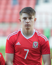 WREXHAM, WALES - Thursday, November 10, 2016: Wales' Benjamin Woodburn before kick off against Greece during the UEFA European Under-19 Championship Qualifying Round Group 6 match at the Racecourse Ground. (Pic by Gavin Trafford/Propaganda)