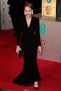 Feb 8, 2015 - EE British Academy Film Awards 2015 - Red Carpet Arrivals at Royal Opera House<br /> <br /> Pictured: Kristin Scott Thomas<br /> ©Exclusivepix Media