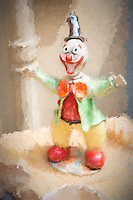 Laughing Clown Figurine at a flea market.