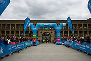 A general view inside Piece Hall Halifax of the start prior to stage 4 of the Tour de Yorkshire from Halifax to Leeds, , United Kingdom on 4 May 2019.