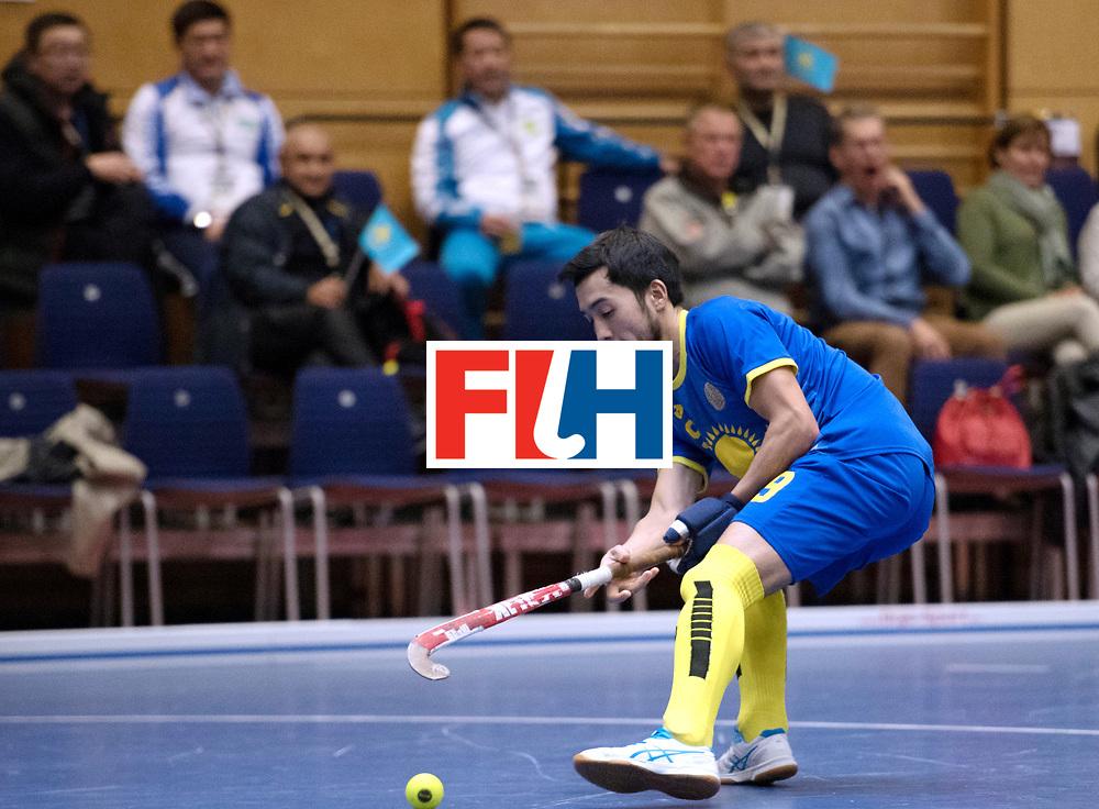 BERLIN - Indoor Hockey World Cup<br /> Kazakhstan - Poland<br /> foto: BEIBITOV Nurzhan<br /> WORLDSPORTPICS COPYRIGHT FRANK UIJLENBROEK