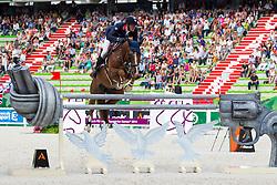 Kevin Staut, (FRA), Reveur De Hurtebise HDC - World Champions, - Second Round Team Competition - Alltech FEI World Equestrian Games™ 2014 - Normandy, France.<br /> © Hippo Foto Team - Leanjo De Koster<br /> 25/06/14